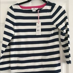 NWT Vineyard Vines Navy and White Striped top